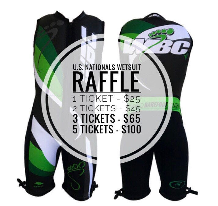 Wetsuit Raffle to benefit the U.S. Barefoot Nationals