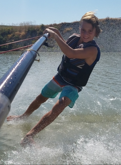 September's Featured Footer: Young Michelangelo of Barefoot Water Skiing
